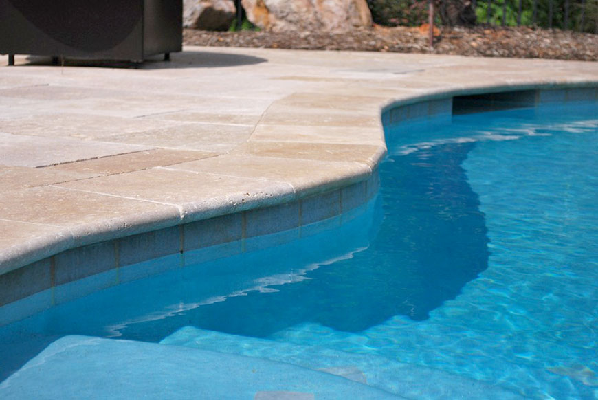 Bullnose Travertine Pool Coping