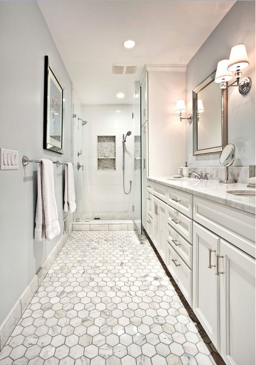 Calacatta Gold Marble Mosaic Tile