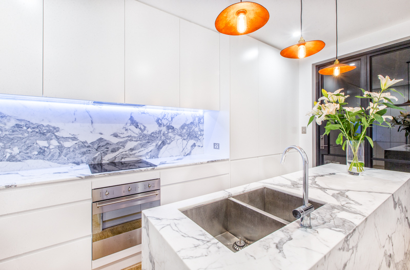Calacatta Marble Kitchen Tiles