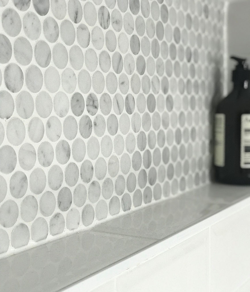 Carrara Penny Round Marble Mosaic Tiles