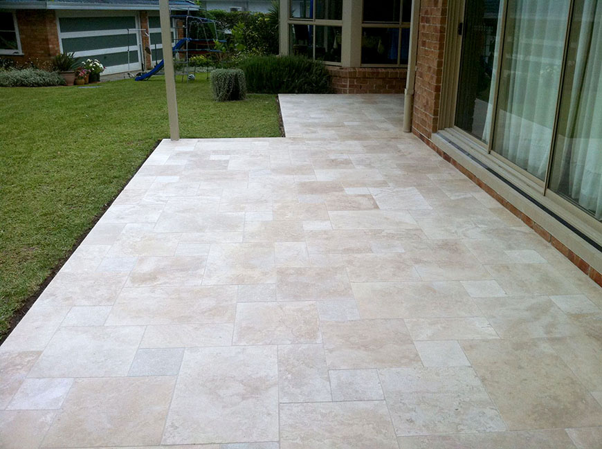 Classic Travertine French Pattern Paver