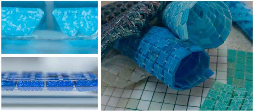 Diamon Profile Glass Mosaic Tile