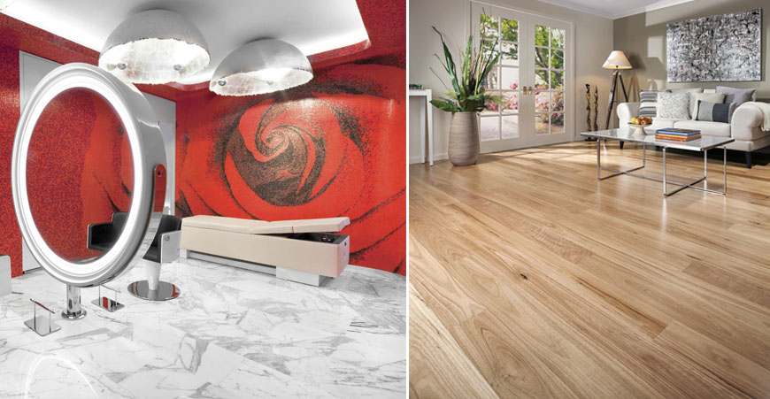 Marble & Timber Floor Tile