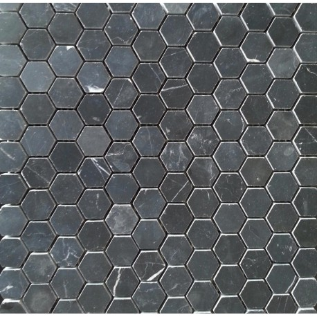 Nero Marquina Marble Mosaic Tiles