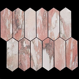 Norwegian Rose Picket Marble Mosaic Tile