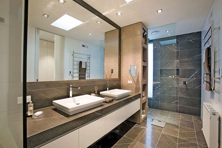 Pietra Grey Marble Bathroom Tile