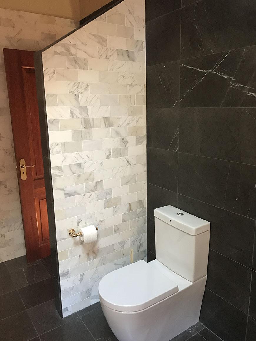 Pietra Grey & Calacatta Marble Tile