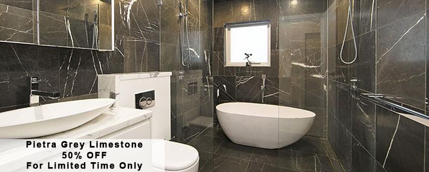 Pietra Grey Limestone Tile