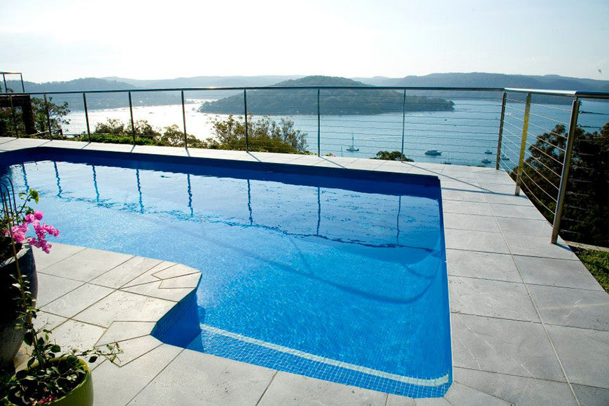 Pietra Tumbled Paver Limestone Pool Coping