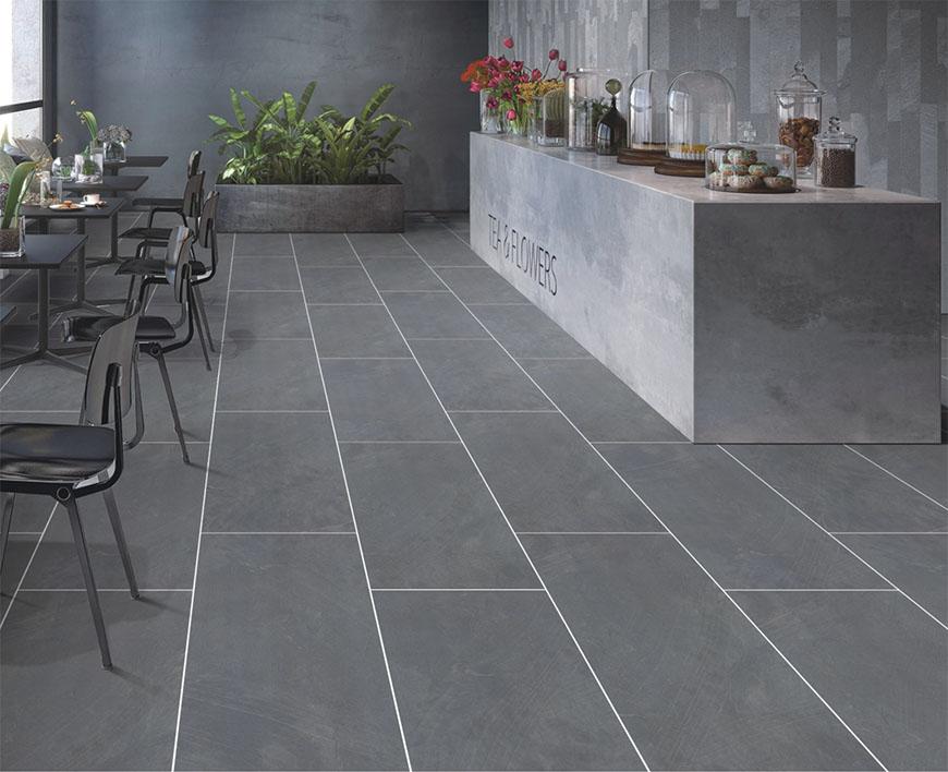 Planet Dark Grey Porcelain Tiles