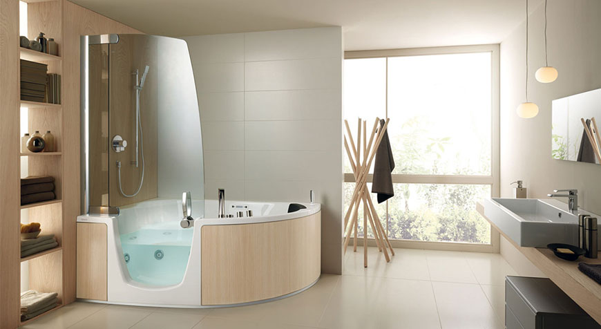 Teuco Combi Unit Shower Bathtub