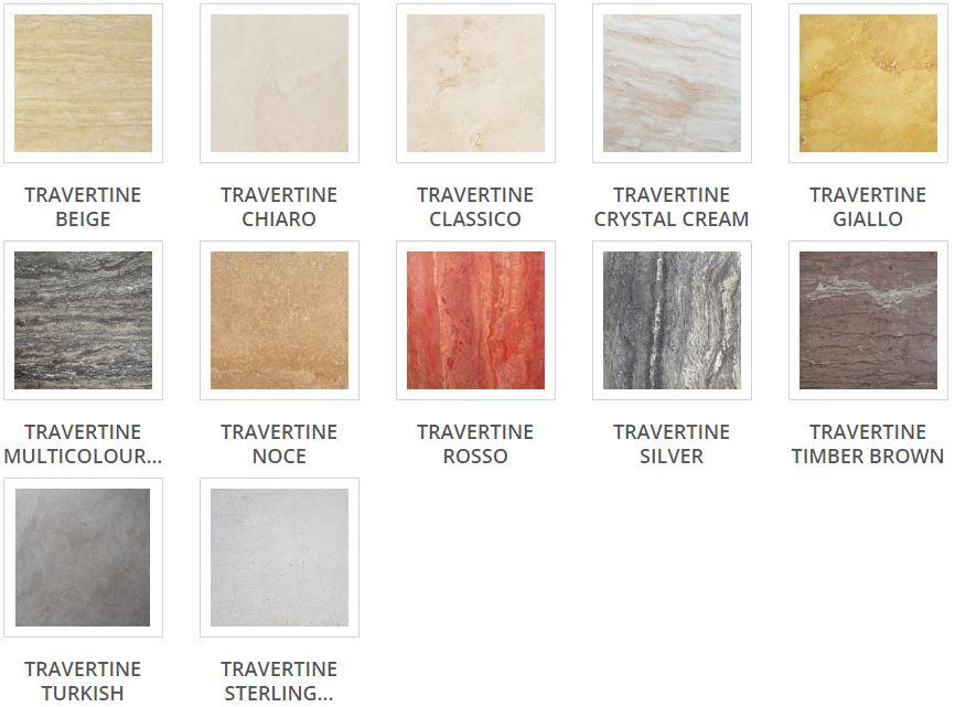 Travertine Tile Range